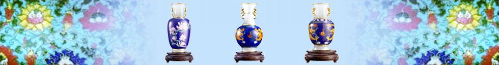 景泰蓝花瓶展示