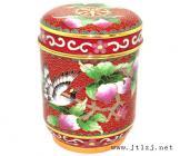 景泰蓝茶叶桶产品