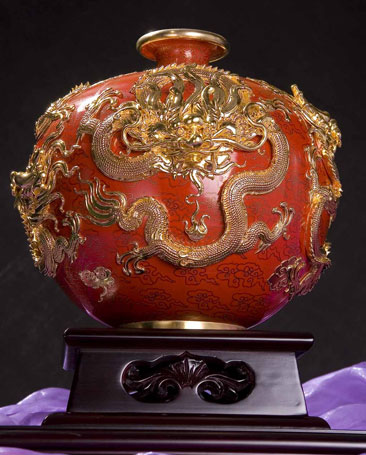 2011年度深圳珠宝展景泰蓝花瓶