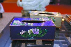 景泰蓝纸巾盒